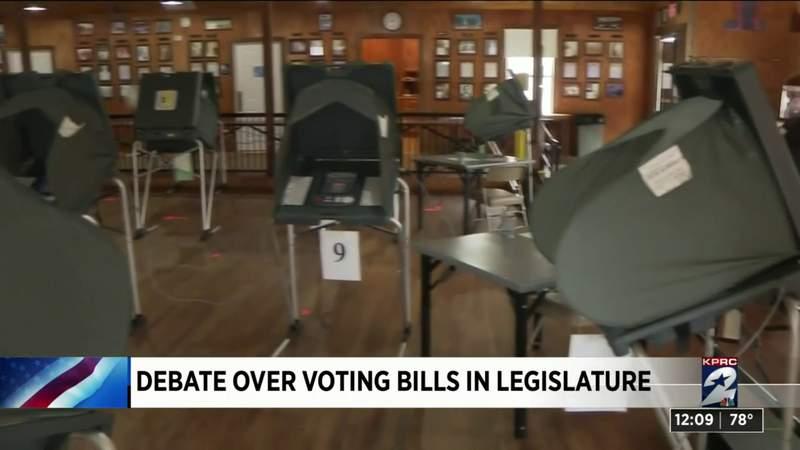 Debate over voting bills in legislature