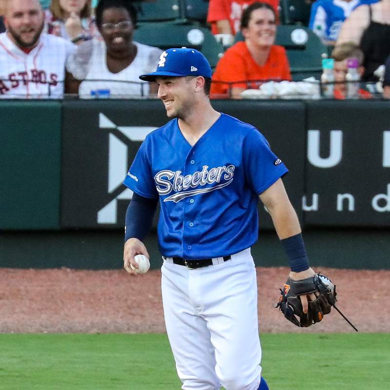 Alex Bregman during a rehab stint with the Sugar Land Skeeters