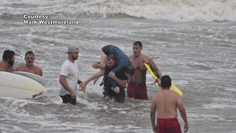 67-year-old surfer rescues two girls at Surfside Beach in Brazoria County