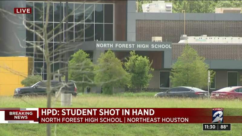 Teen detained after student shot in hand after North Forest High School graduation practice, police say - KPRC Click2Houston