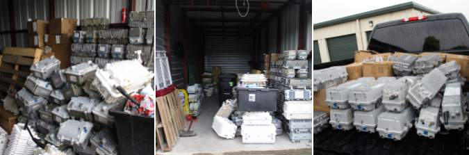 More than half a million dollars worth of stole internet nodes were recovered at a storage facility on Friday, July 9.