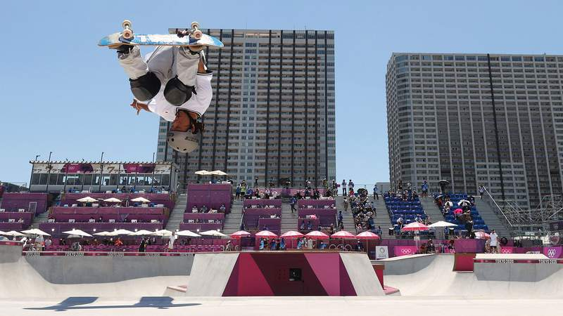 Two-time Olympic snowboarding medalist Ayumu Hirano finished 14th in the men's park skateboarding prelims in Tokyo.
