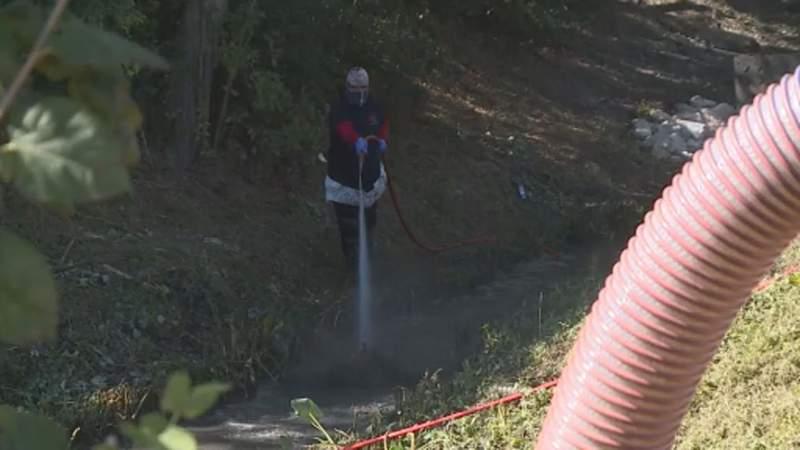Neighbors alarmed by excess sewage in waterway