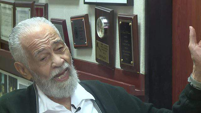 Dr. Thomas Freeman talks about his legacy as a debate professor on June 27, 2019, on his 100th birthday.