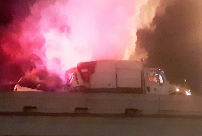 I-45 South reopens after deadly crash involving street sweeper
