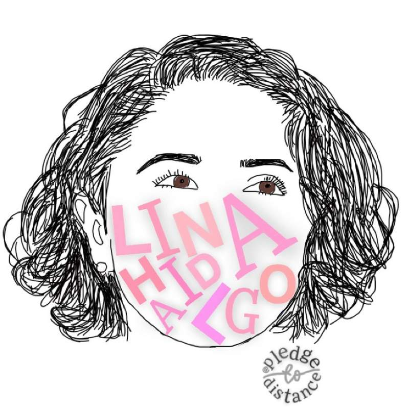 Artwork of Harris County Judge Lina Hidalgo created by Klein High School junior Sneha Shenoy