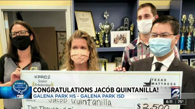 12th KPRC-Texas Mattress Makers Senior Scholarship winner: Jacob Quintanilla of Galena Park HS
