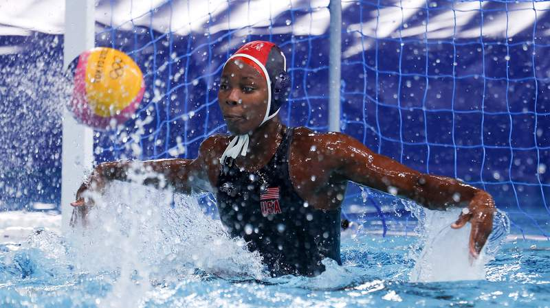 Team USA's Ashleigh Johnson at the 2020 Tokyo Olympics.