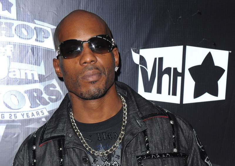 """FILE - In this Sept. 23, 2009, file photo, DMX arrives at the 2009 VH1 Hip Hop Honors at the Brooklyn Academy of Music, in New York. DMX's longtime New York-based lawyer, Murray Richman, said the rapper was on life support Saturday, April 3, 2021 at White Plains Hospital. """"He had a heart attack. He's quite ill,"""" Richman said. (AP Photo/Peter Kramer, File)"""