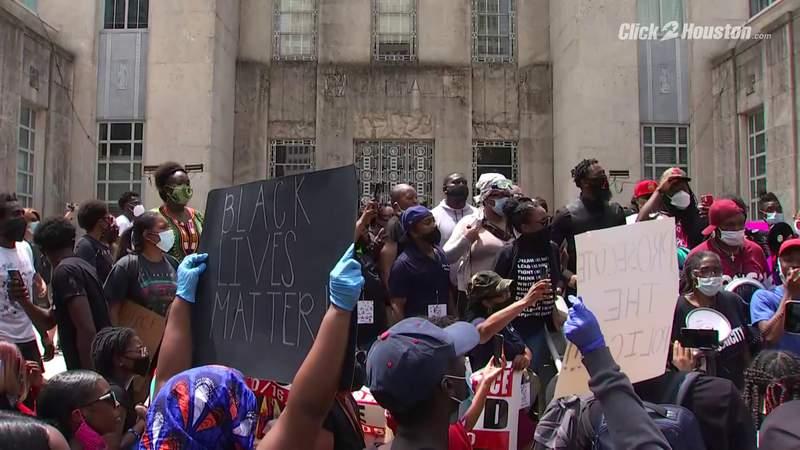 Black Lives Matter protest in Houston seeking justice for George Floyd pt. 1