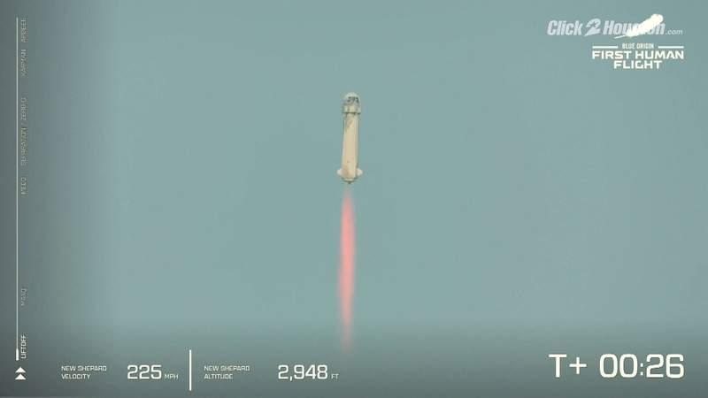 Blue Origin rocket launch and landing!