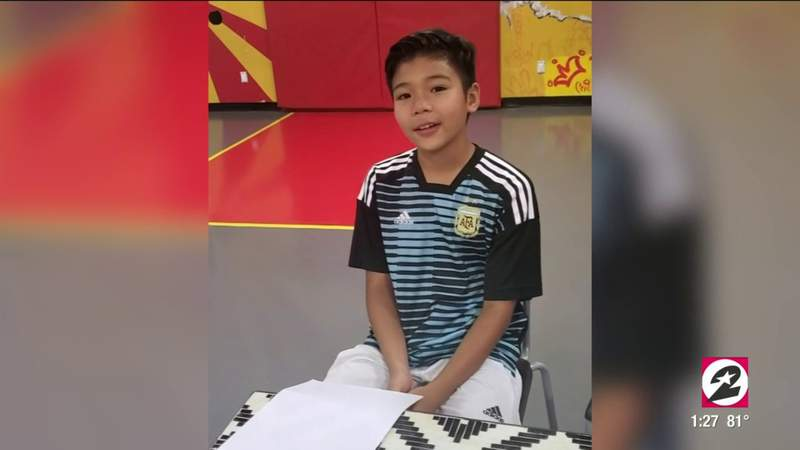 Quarantine turned an 11-year old soccer player from Humble into a journalist | HOUSTON LIFE | KPRC 2