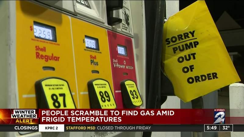 People scramble to find gas amid frigid temperatures