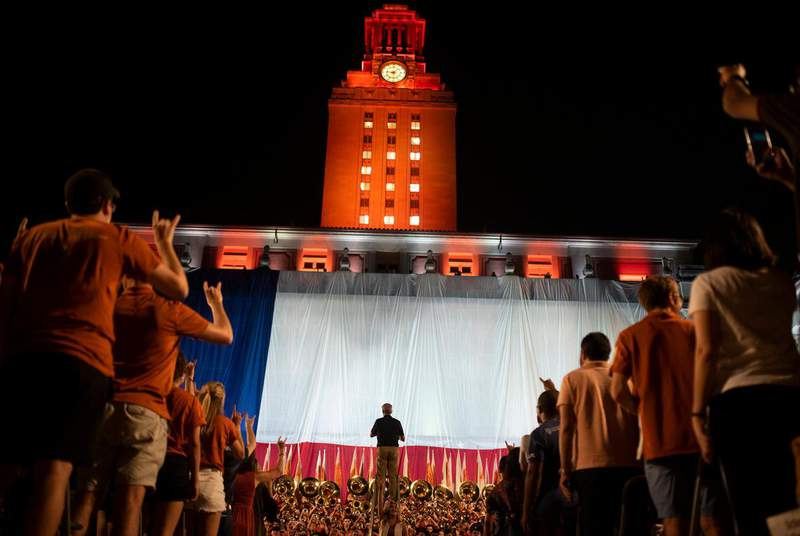 The University of Texas at Austin's Class of 2023 attends the university's annual Gone to Texas on Aug. 27, 2019.                    Credit: Eddie Gaspar/The Daily Texan
