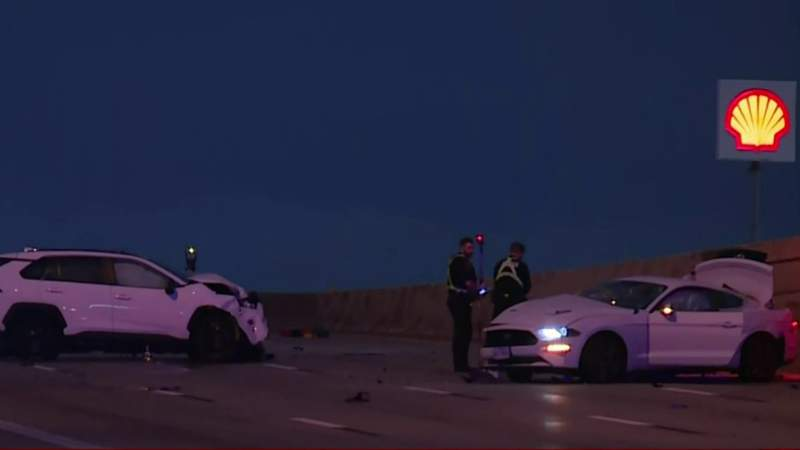 HPD: Woman fatally struck after stepping out of car following crash on North Freeway