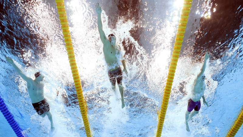 Follow along for all the action from the first swimming finals session of the Tokyo Olympics.