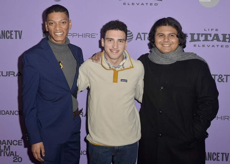 "Rene Otero, Ben Feinstein and Steven Garza attend the ""Boys State"" premiere at the 2020 Sundance Film Festival on Jan. 24, 2020 in Park City, Utah."
