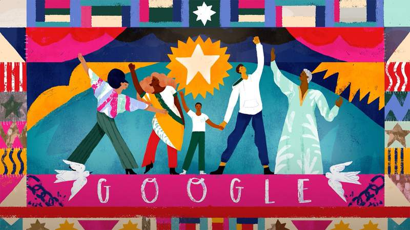Google Doodle commemorates the 155th anniversary of Juneteenth, set to 'Lift Every Voice and Sing'