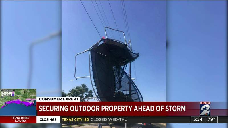 Securing outdoor property ahead of storm
