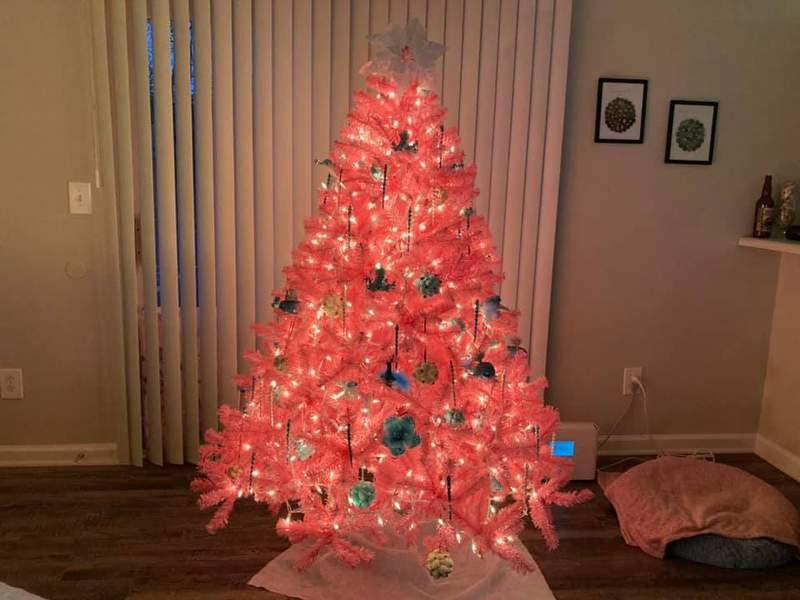Breast Cancer Survivor-inspired Christmas tree