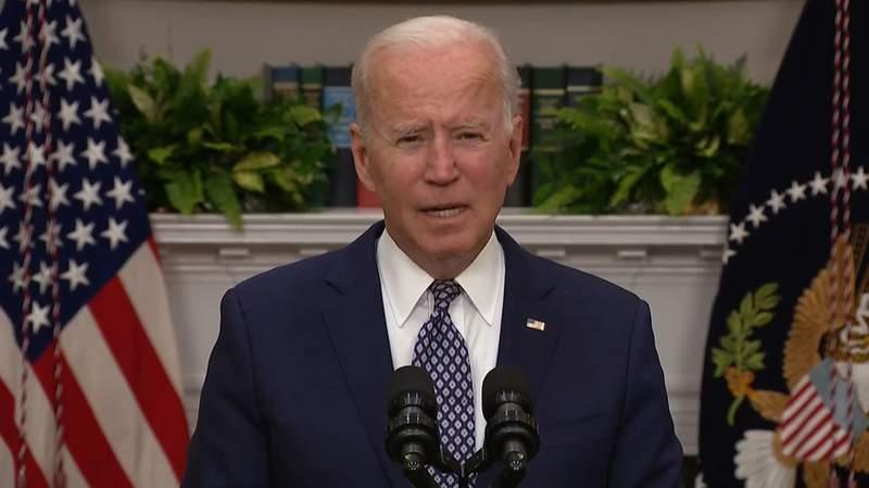 President Joe Biden speaking on August 24, 2021 from the White House