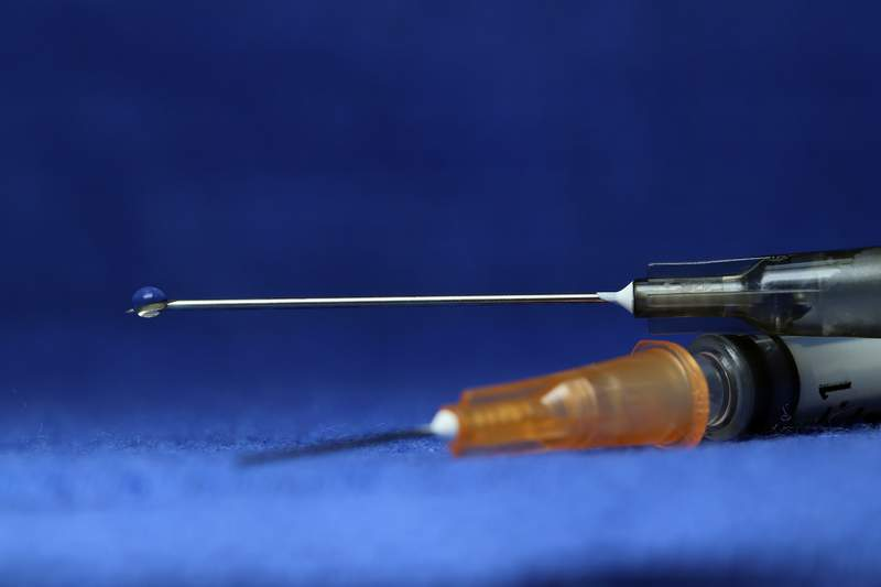 Stock image of a syringe.