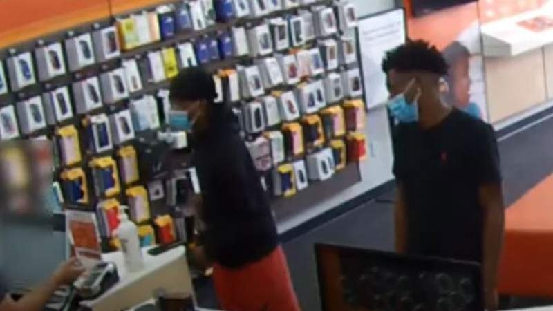 Houston police are asking for the public's help with identifying two men who they say robbed a cell phone store on South Post Oak.