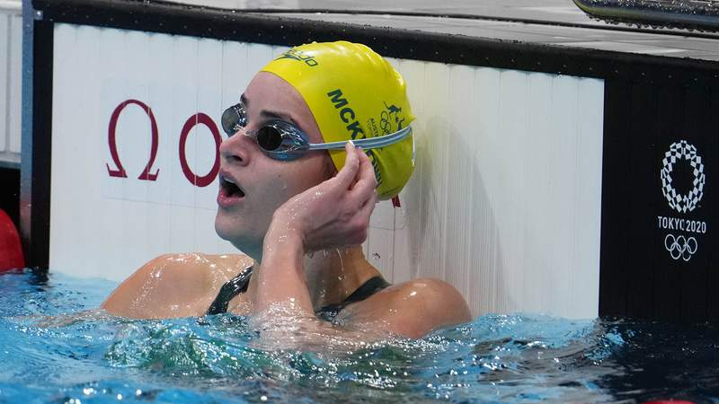 Kaylee McKeown earned her first Olympic gold medal in the women's 100m backstroke