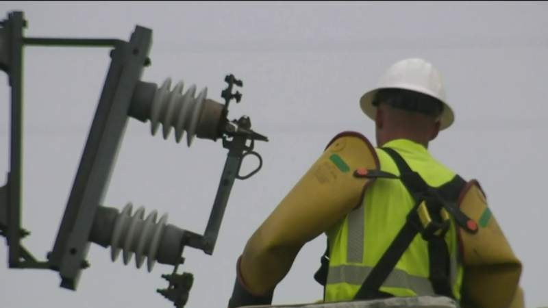 Lingering power outages after storm