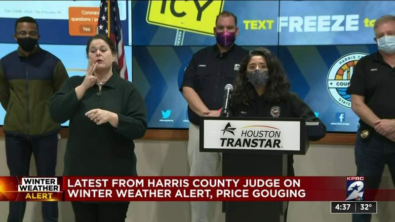 Latest from Judge Hidalgo on winter weather alert, price gouging