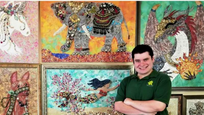Local man living with autism turns recycled paper into beautiful works of art | HOUSTON LIFE | KPRC 2
