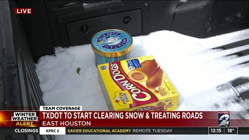 The scene in east Houston