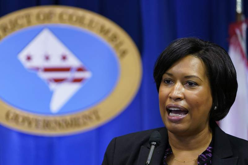 FILE - In this Wednesday, Nov. 4, 2020, file photo, District of Columbia Mayor Muriel Bowser speaks during a news conference in Washington. Bowser is seeking increased security around President-elect Joe Bidens Jan. 20, 2021, inauguration in the wake of the mob insurrection at the Capitol. (AP Photo/Susan Walsh, File)