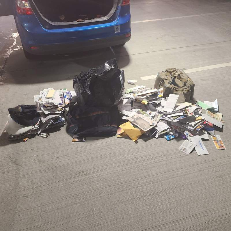 A traffic stop in west Harris County turned up stolen mail.