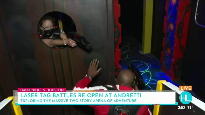 Laser Tag Battles at Andretti Indoor Karting & Games | HOUSTON LIFE | KPRC 2