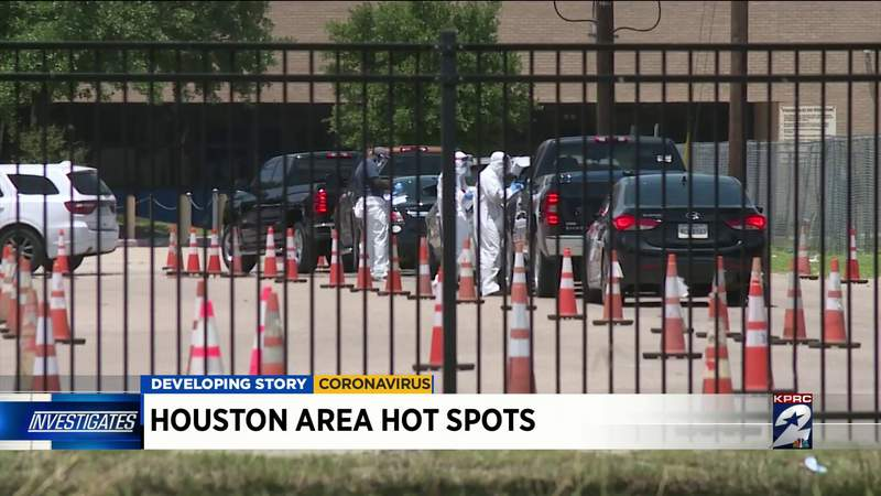Here are the Houston-area COVID-19 hot spots