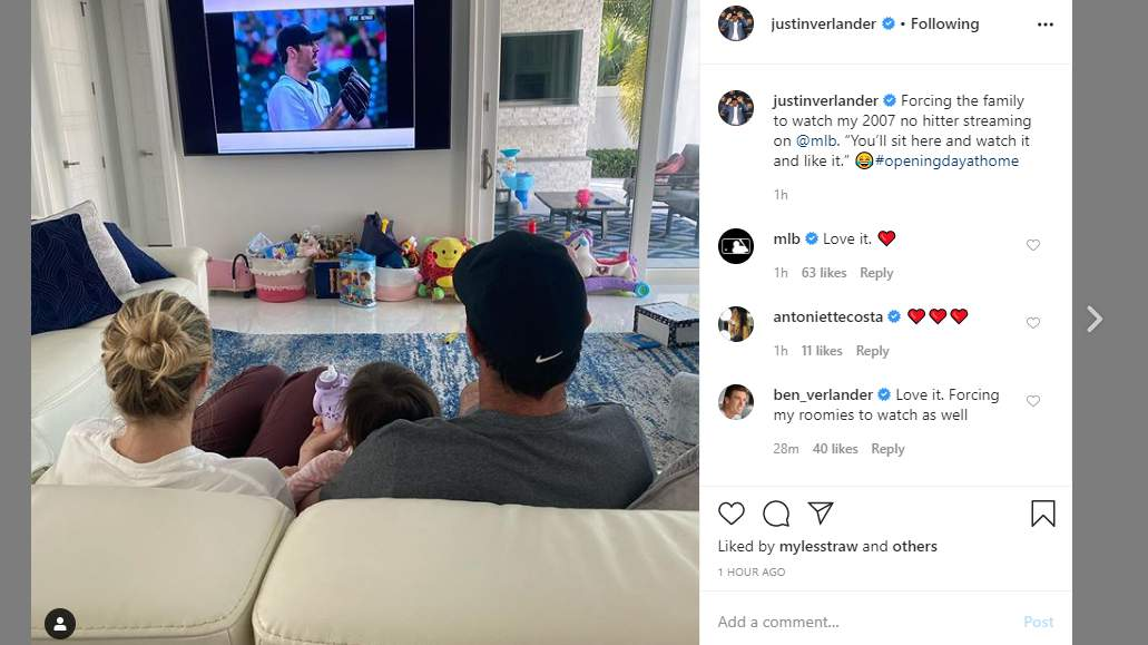 This Is What Justin Verlander Is Doing On Opening Day