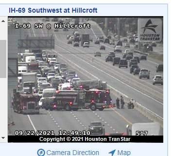 Houston TranStar image at Hillcroft where the rollover crash happened on Sept. 22. 2021