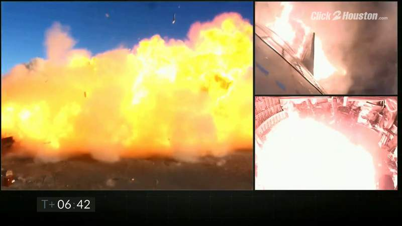 SpaceX's Starship SN8 explodes during test flight