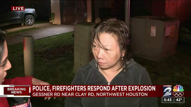 Woman describes being injured in aftermath of northwest Houston explosion