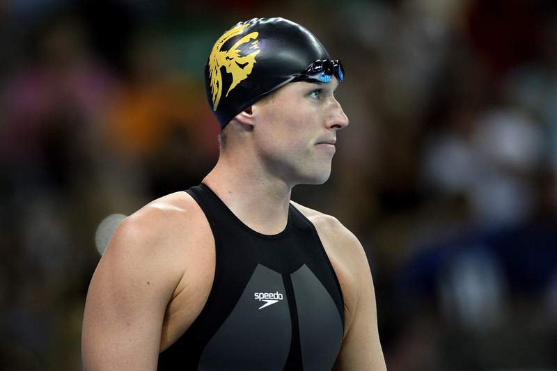 OMAHA, NE - JUNE 30:  Klete Keller prepares to compete in the semifinal of the 200 meter freestyle during the U.S. Swimming Olympic Trials on June 30, 2008 at the Qwest Center in Omaha, Nebraska.  (Photo by Donald Miralle/Getty Images)