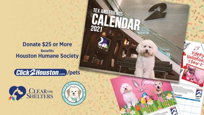 Tex and Friends Calendar 2021