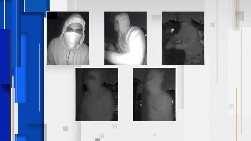 Crime Stoppers and the Houston Police Department are asking for the public's assistance in identifying the suspects responsible for five masked men who claimed to be police officers before committing a robbery on Feb. 20, 2020, they said.