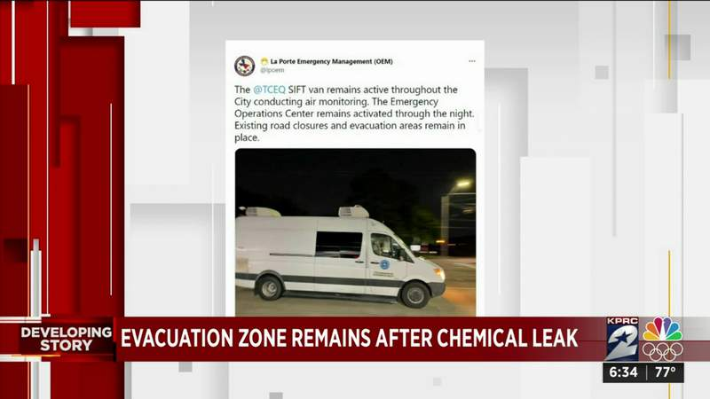 Evacuation order in La Porte following chemical leak at Dow facility still in effect Thursday