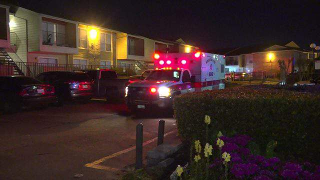A couple was ambushed by three men as they were leaving their apartment on East Edgebrook Drive in southeast Houston, police said.