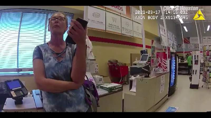 VIDEO: Maskless woman seen in body-cam bank video arrested after incident at another business