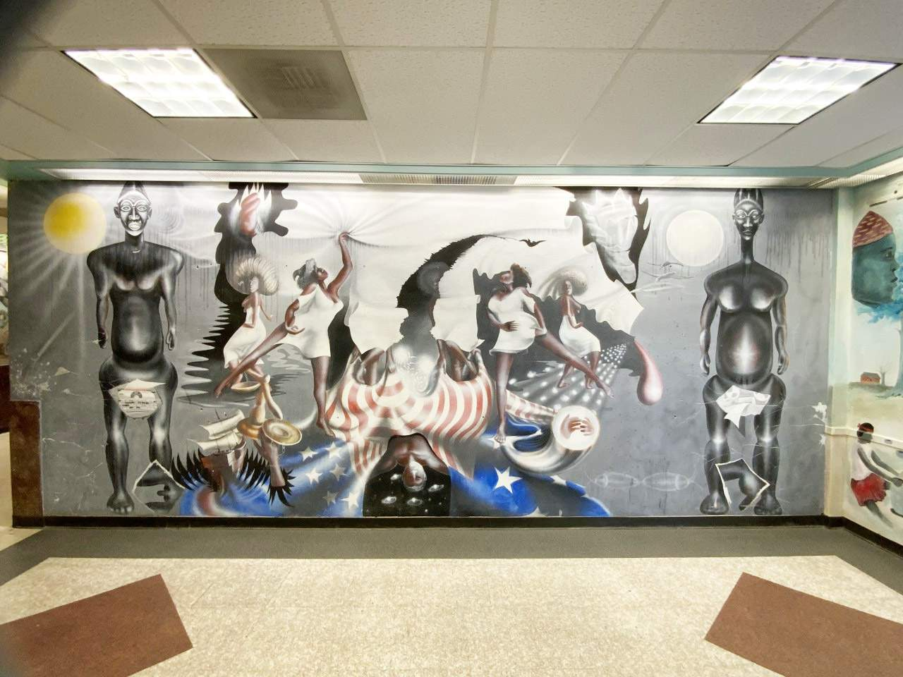 Mural inside TSU's Hannah Hall