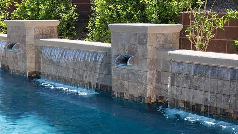 A backyard pool