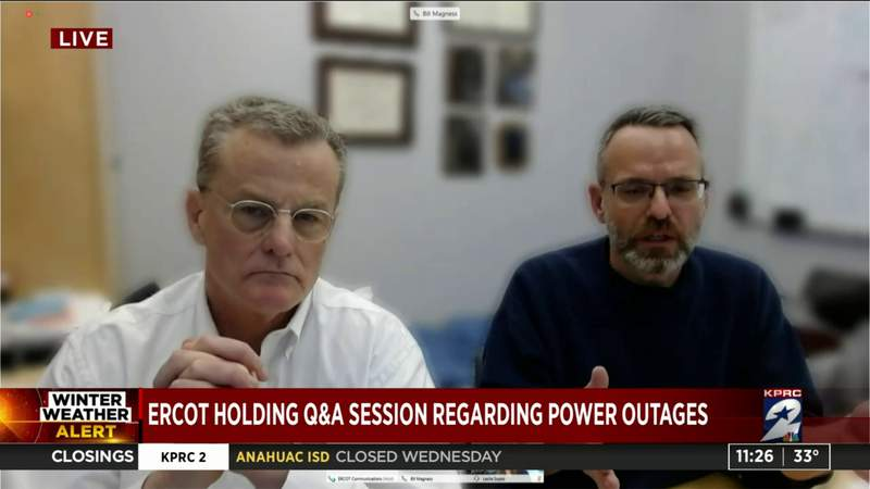 ERCOT holding Q & A session regarding power outages
