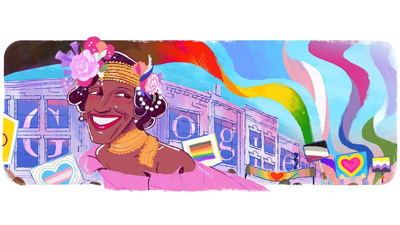 Google announced its June 30, 2020 Google Doodle will be dedicated to Marsha P. Johnson, the late activist, who was at the center of New York's gay liberation movement for more than 20 years.